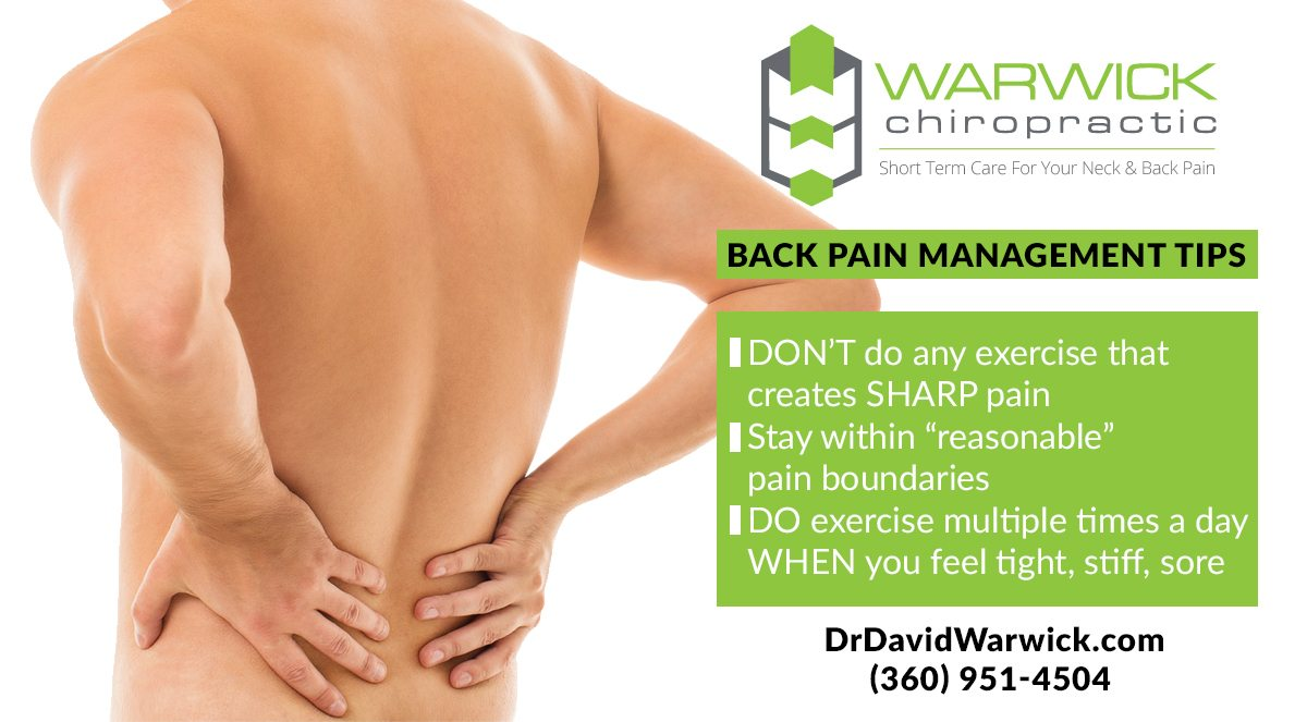 back pain management tips